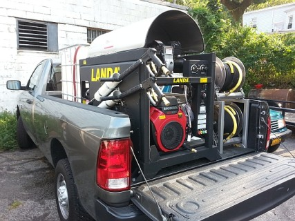 Pressure washers for Middletown, NY on truck bed easy to transport